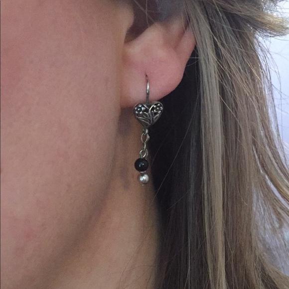 04c2ece669387 Silver heart dangle earrings Macy's